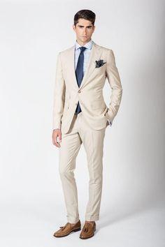 Cream Two Piece Suit #menssuitsstylish