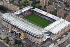 An aerial view of Upton Park home of West Ham United Football Club on July 26, 2011 in London, England.