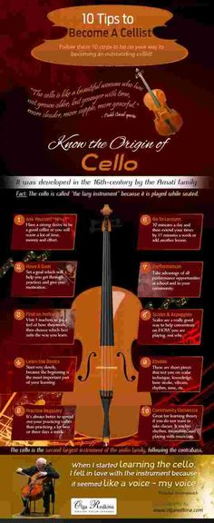 10 Tips to Become a Cellist - The cello is one of the most elegant and respected instruments within the orchestra. Whether you fall in love with its rich sound or are impressed by its size, learning the cello provides an unique but highly rewarding challenge. While you may feel anxious about getting started learning and mastering how to play your cello, it is important to recognize the steps to leaning the cello.