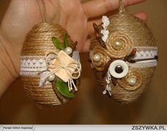 sznurkowe jajka wielkanocne - Szukaj w Google