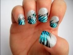 Zebra Nail Art Designs