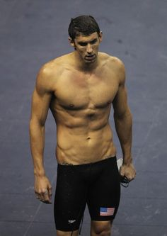 Michael Phelps, love him or hate him- sons a beast!!! And got a bod to die for.