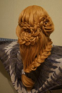 Lace braids to flowers