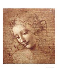 Female Head (La Scapigliata), c.1508 Posters by Leonardo da Vinci at AllPosters.com