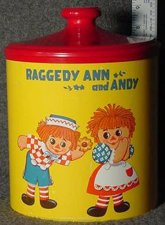 Red and yellow Raggedy Ann and Andy