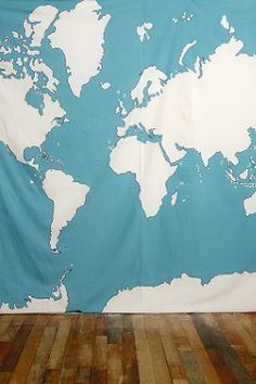 it's a giant fabric atlas...and there's a wall in my prayer room that's just begging for it.