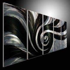 METAL WALL SCULPTURE Abstract decoration painting metal painting wall art  #Handmade #Modern