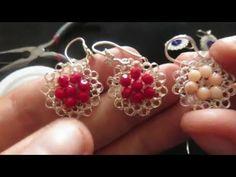 Aretes tejidos con cristales - YouTube