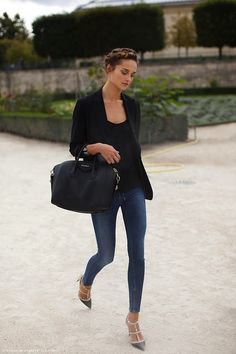 Valentino shoes-  love how it dresses up the casual outfit instantly