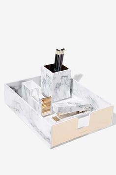 Rachel George Robertson Marble Desk Tray - Gifts Gifts The Girl Boss All Gifts Office Accessories, Home Decor Accessories, Decorative Accessories, Fashion Accessories, Objet Wtf, Marble Desk, Desk Tray, Desk Set, Bedroom Desk