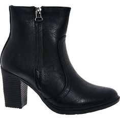 Heavenly Feet Black Heeled Ankle Boots