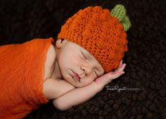 baby photo, pictures, fall, pumpkin hat