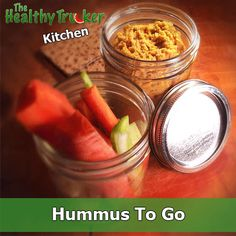 Easy to-go hummus #recipe for truck drivers or other on-the-go lifestyles