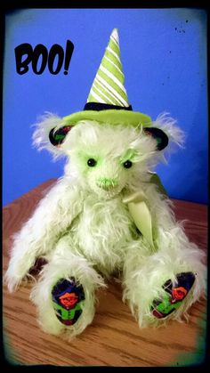 Check out this item in my Etsy shop https://www.etsy.com/uk/listing/268710260/halloween-mohair-jointed-artist-bear