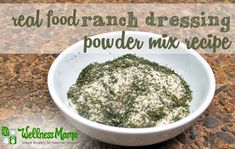 This ranch dressing mix is great on beef, chicken, roasted vegetables or to make salad dressing. Made with herbs and spices not vegetable oil and additives.