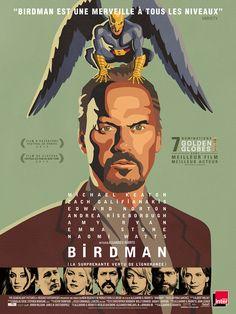 Birdman est un film de Alejandro González Iñárritu avec Michael Keaton, Zach Galifianakis. Synopsis : L'acteur Riggan Thomson,has beenconnu pour avoir incarné un célèbre super-héros, monte une pièce à Broadway autour de son propre pe