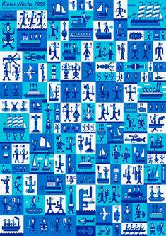 Bildresultat för kieler woche plakate 2012 Logo Design, Graphic Design, Inspire Me, Illustrators, Illustration Art, Germany, Study, Colours, Texture