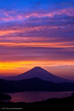 - nobody cares - the World Heritage, Mt. Beautiful Places In Japan, Beautiful Sunset, Beautiful World, Monte Fuji, Nature Landscape, Japanese Landscape, Fuji Mountain, Sky And Clouds, Toscana