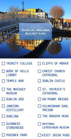 Dublin, Ireland Bucket List - Things to do in Dublin, Ireland