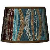 Stacy Garcia Pearl Leaf Peacock Tapered Lamp Shade 10x12x8