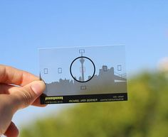 Visitenkarten - kristallklar - transparent - durchsichtig - pvc - Plastik - Skyline - inspirierend - www.bce-online.com/de