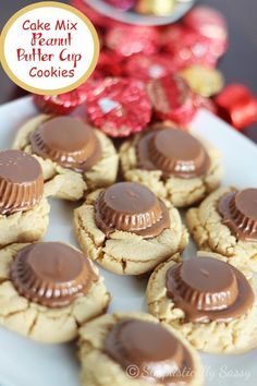 Cake Mix Peanut Butter Cup Cookies by Simplistically Sassy