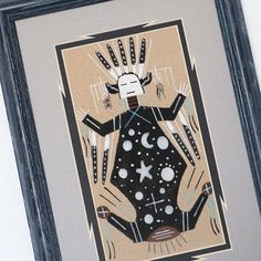 FATHER SKY & MOTHER EARTH NAVAJO SAND PAINTING NATIVE AMERICAN BY