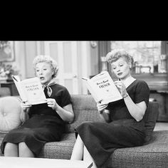 Lucy and Ethel (Lucille Ball and Vivian Vance)