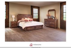 """Regal"" Collection by International Furniture Direct 2010 $2069 Set includes Queen bedframe, dresser, mirror, and nightstand. Solid+furniture+rustic+ifd"