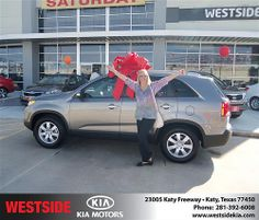 Happy Anniversary to Donna Kroll on your 2013 #Kia #Sorento from Clayton Damon and everyone at Westside Kia! #Anniversary