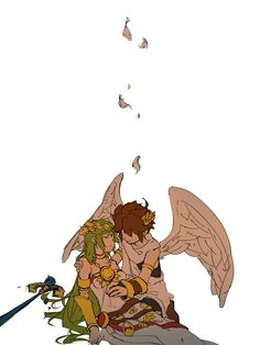 Chibi, Kid Icarus Uprising, Cute Couple Art, Super Smash Bros, Game Art, Nintendo Sega, Art For Kids, Drawings, Metroid