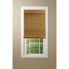 Home Decorators Collection Driftwood Flatweave Bamboo Roman Shade 72 In W X 72 In L Home