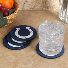 Indianapolis Colts 4-Pack Round Neoprene Coaster Set