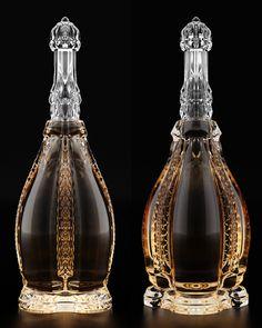 Suprême Cognac Bouteille by Ivan Venkov, via Behance Alcohol Bottles, Liquor Bottles, Drink Bottles, Perfume Bottles, Vodka, Cocktails, Alcoholic Drinks, Beverages, Champagne
