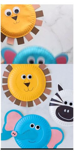 Paper Plate Crafts For Kids, Animal Crafts For Kids, Summer Crafts For Kids, Craft Activities For Kids, Toddler Crafts, Art For Kids, Easy Crafts For Toddlers, Diy Paper Crafts, Diy Kids Crafts