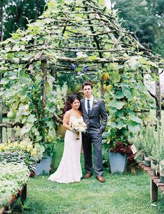 I would love a trellis house for gourds and morning glories!