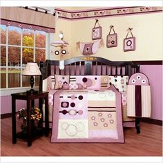 #kids 13-piece set includes: one comforter, one bumper, one fitted sheet, one skirt, two window valances, one diaper #stacker, one toy bag and two #throw pillows,...