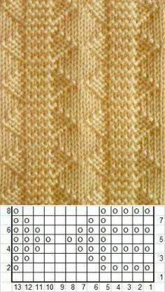 Knitting Paterns, Knitting Charts, Easy Knitting, Loom Knitting, Knitting Designs, Knit Patterns, Crochet Stitches, Knitting Machine, Knitting Needles