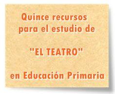"""Día mundial del teatro (27 de marzo): Quince recursos para el estudio de """"EL TEATRO"""" en Educación Primaria Primary Education, Spanish Language, Teaching Resources, March, Learning"""
