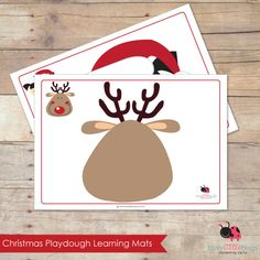 Printable Playdough Learning Mats from Busy Little Bugs