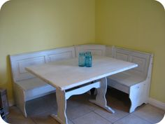 diy kitchen table makeover part one - Corner Table Kitchen