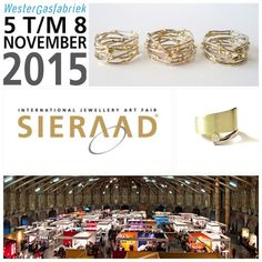 This year we will be at Sieraad  International Jewellery Art Fair 2015 in november in the Netherlands!