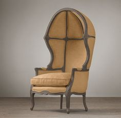 RH's Versailles Chair:In the grand chateaux of 18th-century France, the porter, stationed by the entrance to admit visitors, would have sat in a chair much like this.