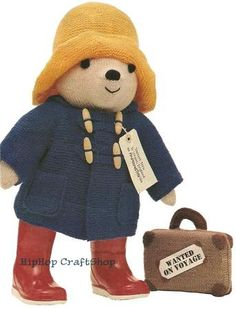 [New]Paddington by Alan Dart (Woman's Weekly)-Free Craft Patterns Free Knitting Patterns Uk, Animal Knitting Patterns, Doll Patterns, Free Pattern, Knit Patterns, Amigurumi Patterns, Knitting Ideas, Craft Patterns, Knitting Projects