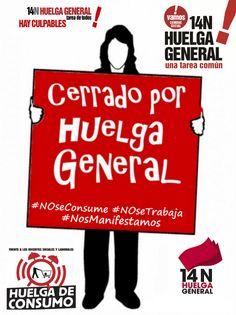#14N Cerrado por Huelga General