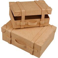 Papier Mache Suitcase Box