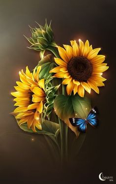 thank You for your lovely pins ladies. Sunflower Garden, Sunflower Art, Yellow Sunflower, Yellow Flowers, Sunflower Quotes, Sunflower Pictures, Sunflower Tattoos, Little Flowers, Beautiful Flowers