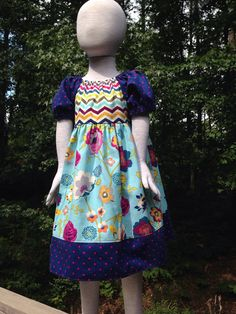 Size 5t......Peasant Dress.....Made and Ready to by LevonaDanielle, $35.00