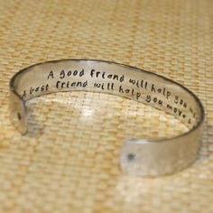 Best Friend Gift  A good friend Custom Hand Stamped by KorenaLoves, $25.00
