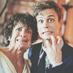 Matthew Gray Gubler and his mother♡ absolutely adorable!<<You mean my future hubby and mother in law!! ;)